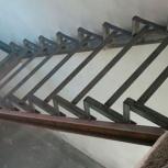 Металлическая прямая лестница на антресольный этаж, Ставрополь