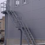 Пожарная лестница с площадкой, для здания, Ставрополь