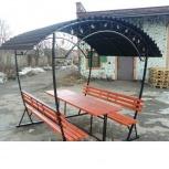Открытая летняя беседка со столом и лавками 8-ми местная разборная., Ставрополь