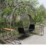 Подвесное металлическое кресло-качели с опорой., Ставрополь