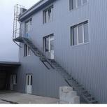 Пожарная лестница для склада, Ставрополь